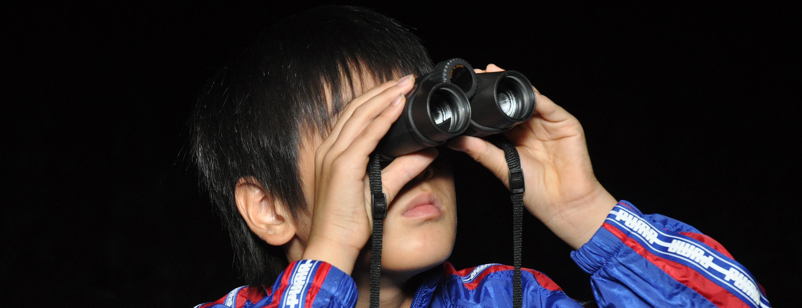 観察 双眼鏡(そうがんきょう)で天体観測(かんそく)をしよう