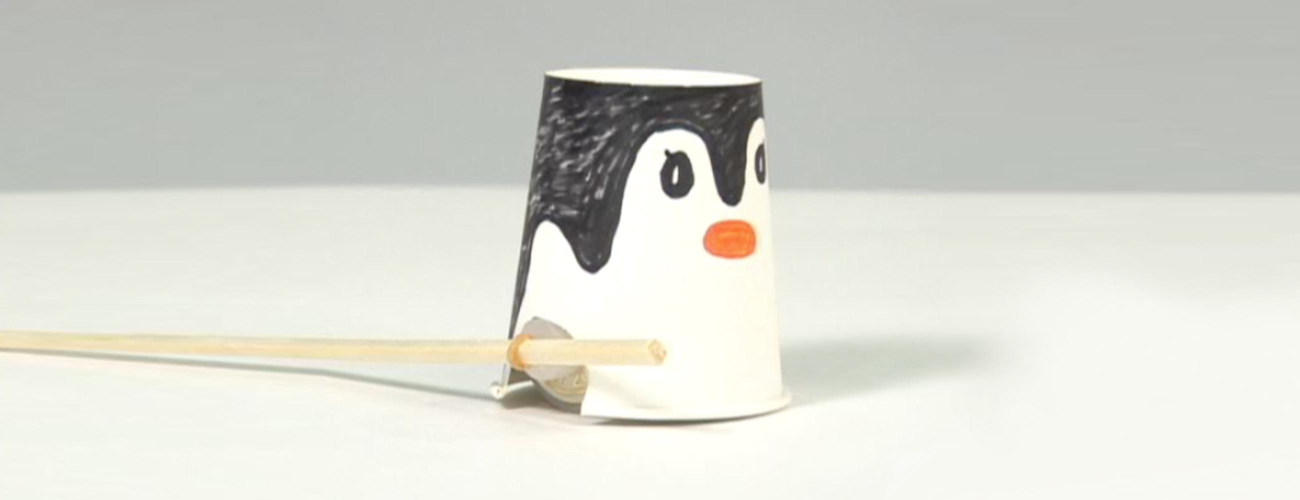 工作 ゴム動力ペンギン