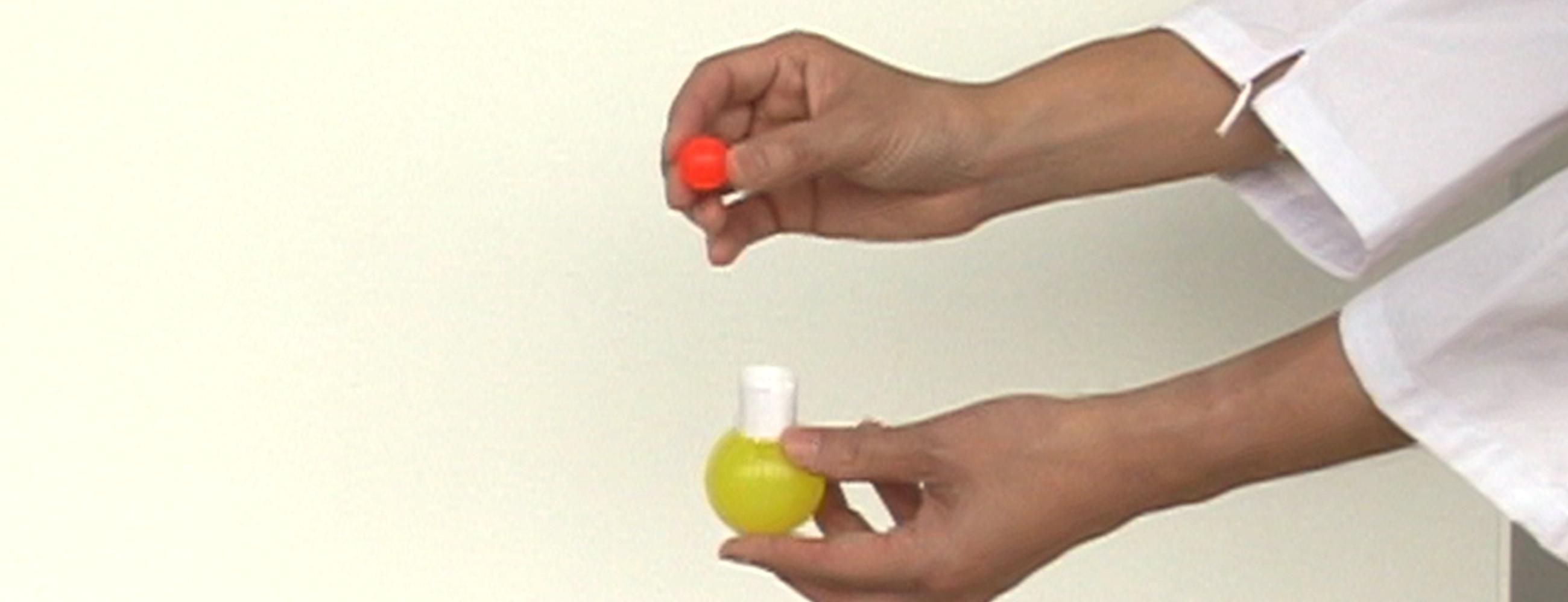 実験 2段式スーパーボール