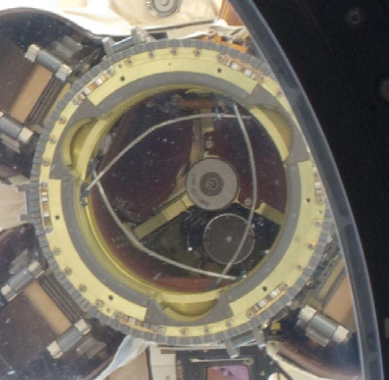 ISSのロボットハンドのようす