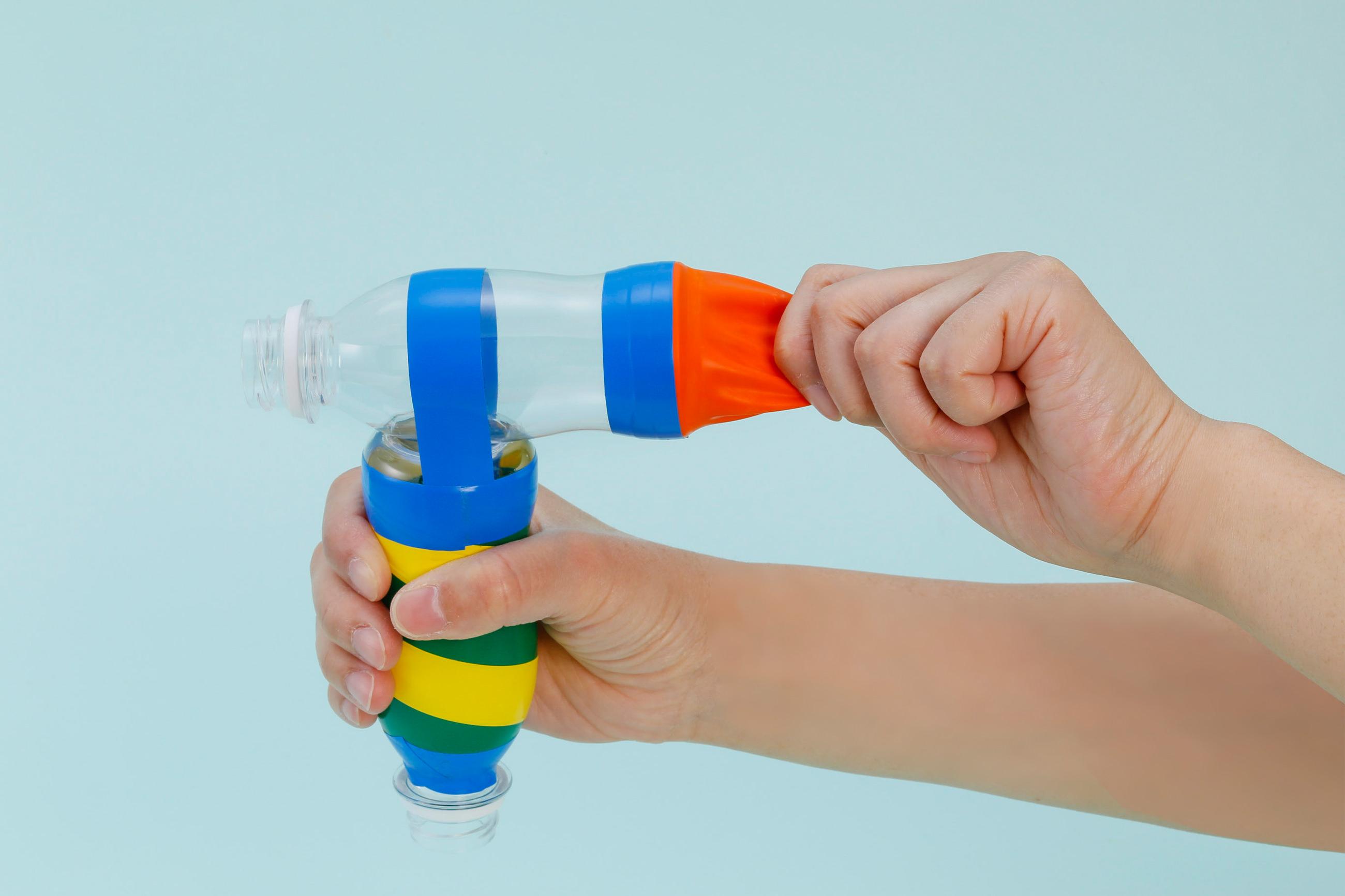 実験 ミニペットボトル空気砲(くうきほう)