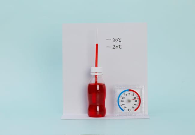 ミニペットボトル温度計