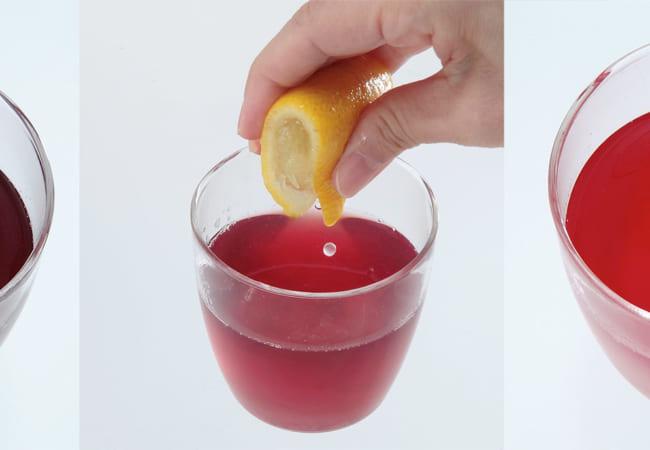 飲み物の色が早変わり!