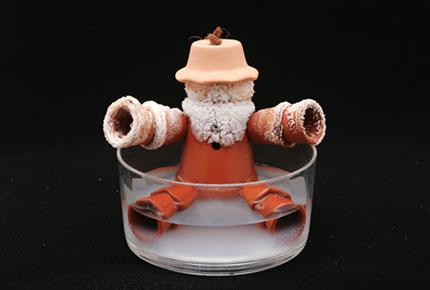【100円ショップ大実験】食塩水につけるだけで作れる「塩の結晶(けっしょう)人形」