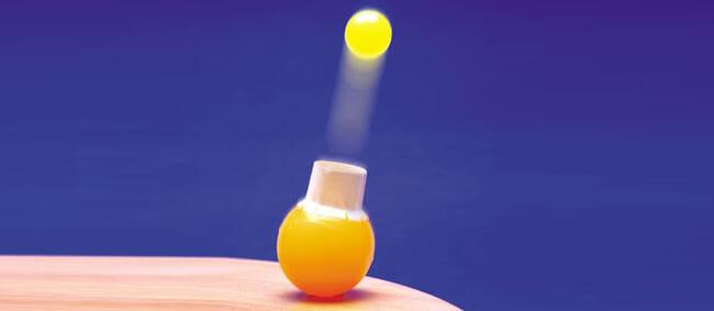 【100円ショップ大実験】びっくりするほど飛び上がる「親子ボールの二段(にだん)ロケット」