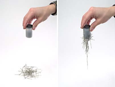 【100円ショップ大実験】磁石(じしゃく)はなぜ磁石(じしゃく)なのかの実験「こなごな磁石(じしゃく)」