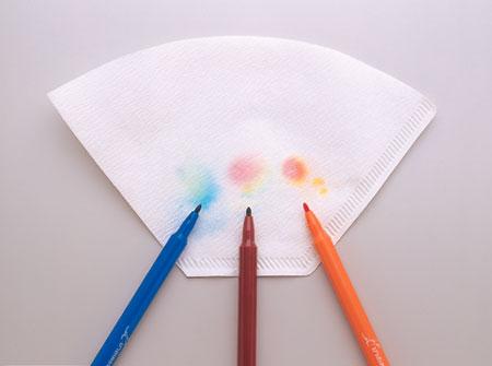 【100円ショップ大実験】コーヒーフィルターで色を分析(ぶんせき)「超(ちょう)かんたんクロマトグラフィー」