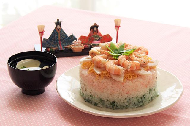 ケーキちらし寿司と、はまぐりと菜の花の潮汁/元気な子どもが育つ毎日のごはん【第19回】