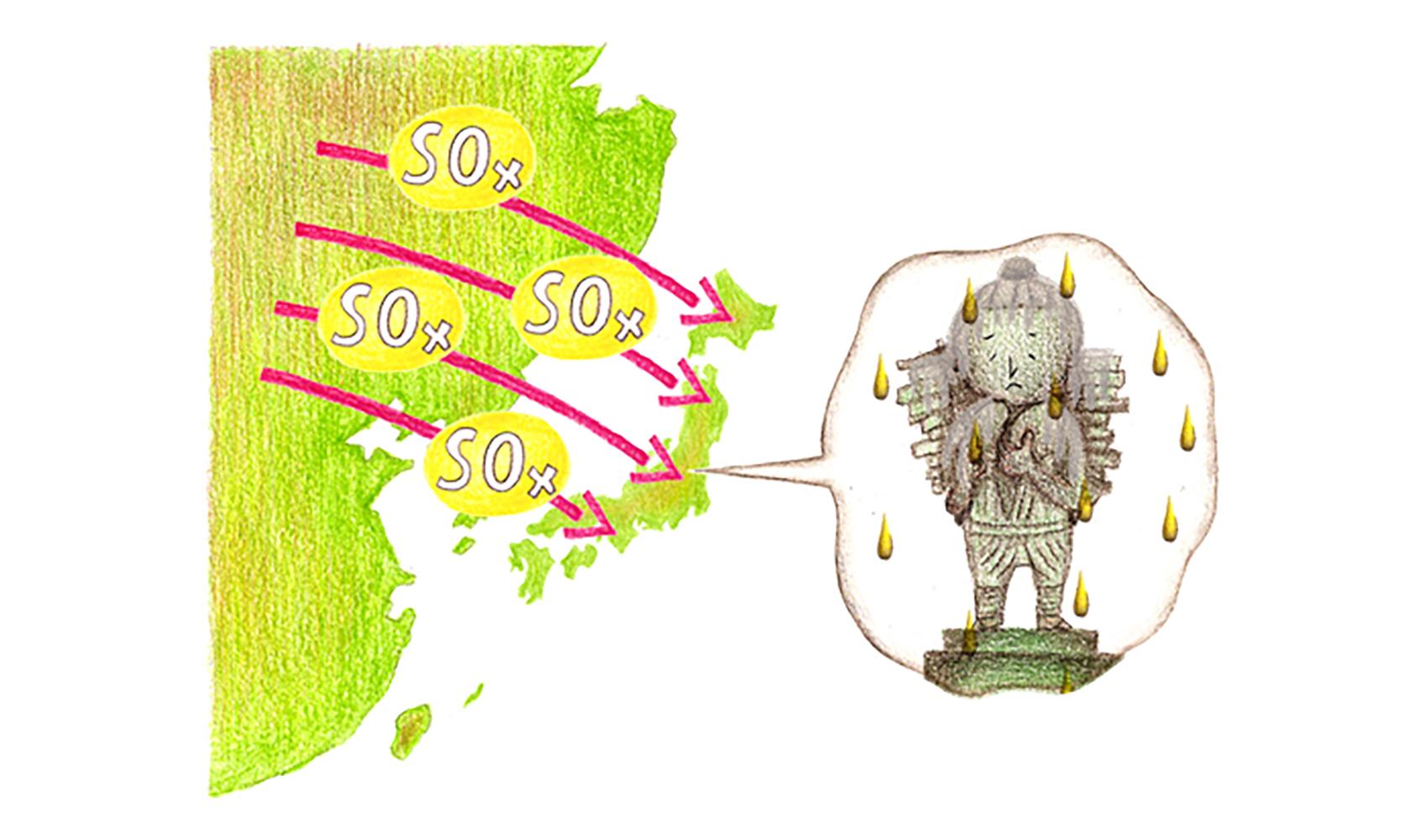 日本でも酸性雨は降っていますか?