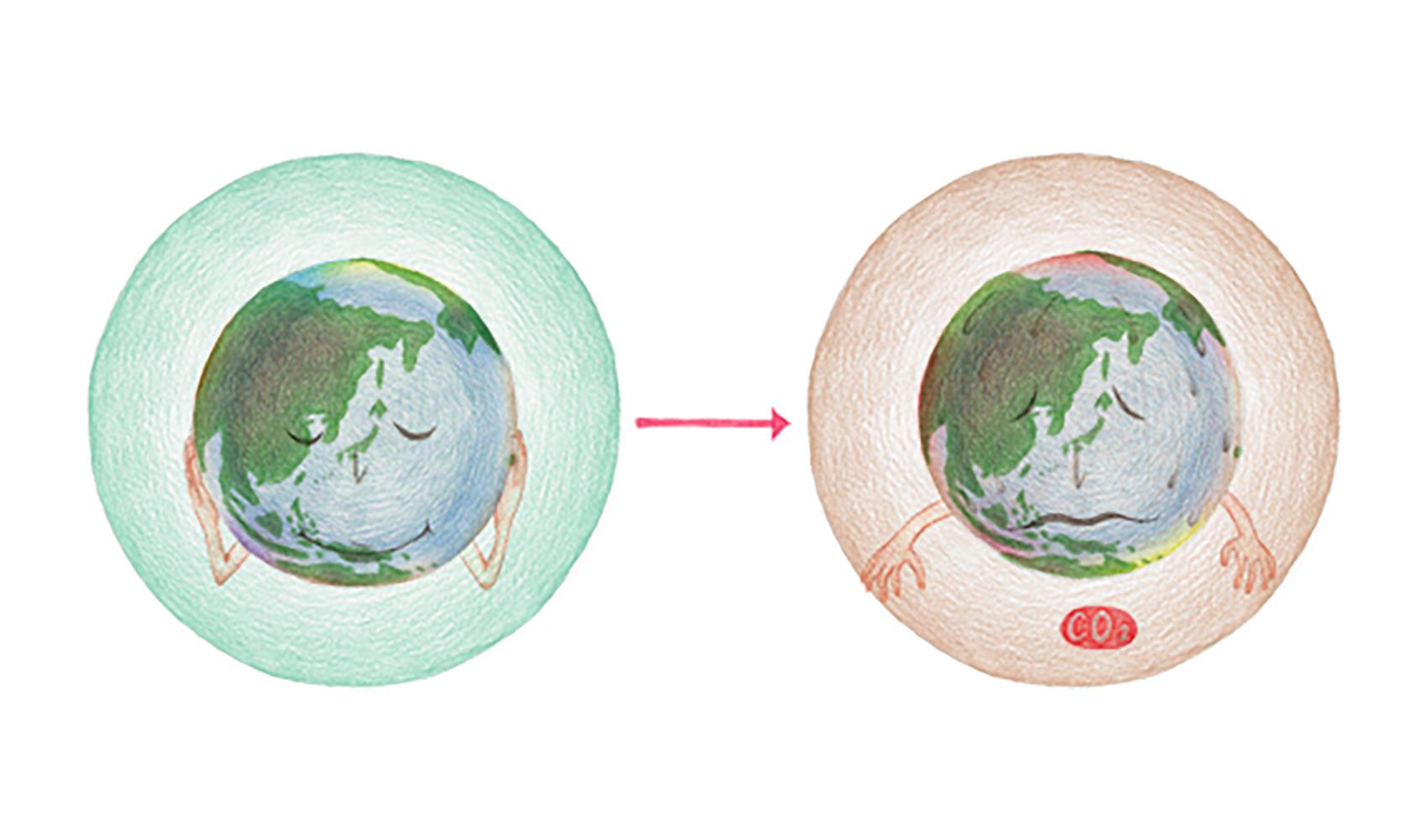 地球を温暖化させる原因は何ですか?