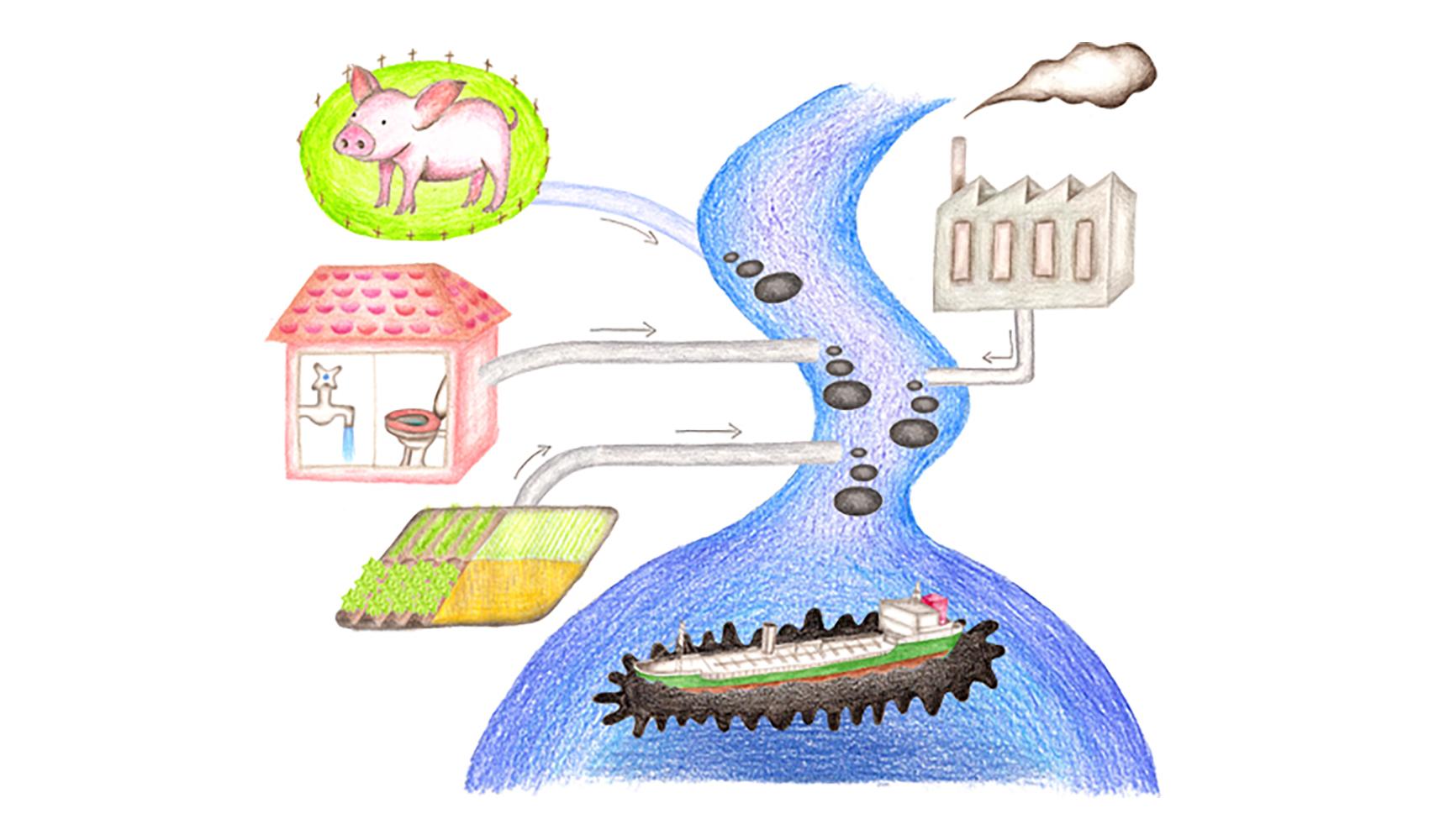 海のよごれは、どんな原因で起こるのですか?