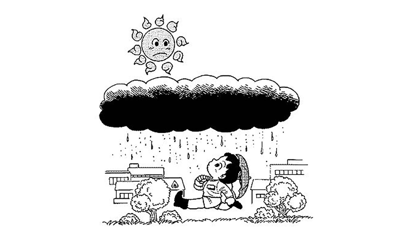 雨がふるときどうして雲が黒くなるの